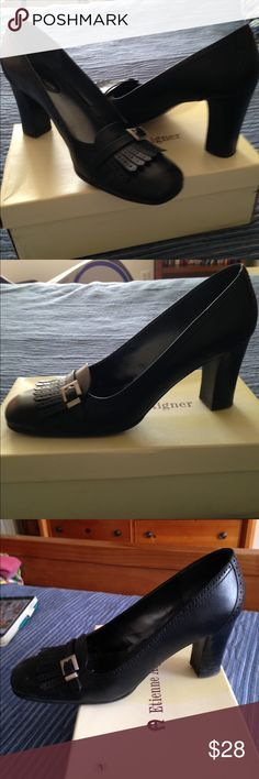 Super black Etienne Aigner pumps! Great condition! 3in heel. Very professional looking! Comfortable 😄 With box. Etienne Aigner Shoes Heels