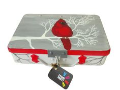Trippy Trinket Boxes-Red Birdie- Hand-Painted Box From India