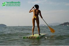 Awesome ride by amateur PET Bottle Stand up Paddle Board Kelly, in Brasil. Learn to build your own affordable and eco friendly SUP board or surf board in no time.