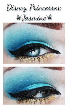 I'm not so into the Disney stuff but I love this makeup my-eclectic-style Disney Eye Makeup, Disney Inspired Makeup, Kiss Makeup, Beauty Makeup, Princess Jasmine Makeup, Princess Makeup, Blue Makeup, Pretty Makeup, Eye Art