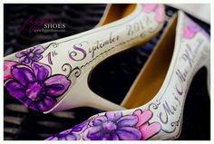Super cute idea. Wedding date on shoe.....