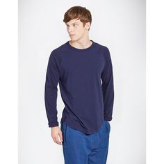 YMC (MENS) - CONTRAST BASEBALL TOP (NAVY) / ワイエムシー・メンズ