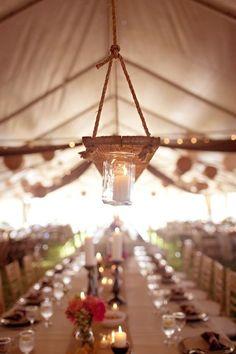 Good idea for hanging lanterns off