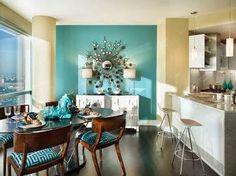 Designing Home: May I suggest aqua for an amazing aqua wall?