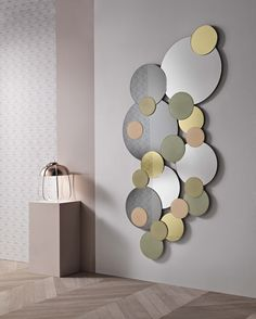 MIRAGE glass low table, design Matteo Ragni, mirror and Alpi wood ...
