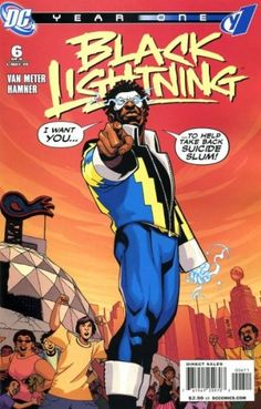 Black Lightning: Year One Vol 1 6 - DC Comics Database Black Characters, Dc Comics Characters, Dc Comics Art, Comic Book Heroes, Comic Books Art, Comic Art, Book Art, African American Heroes, American Comics