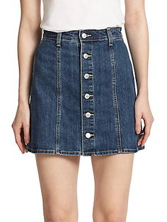 AG Adriano Goldschmied Alexa Chung For AG The Kety Denim Mini Skirt
