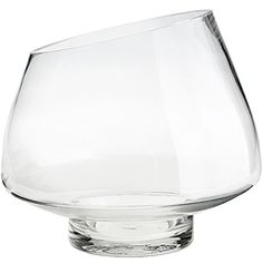 "Bowl Shape Glass Vase    $20  A rose bowl by any other name… Create a new look for your bouquet with this footed Bowl Shape Glass Vase. Clean lines and an angular rim will give your flowers a fresh, funky look.  # Size: 9"" Dia. x 8.5""H"