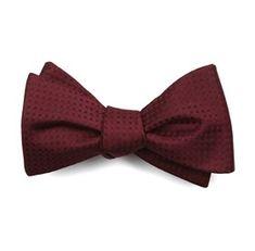 Check Mates Burgundy Bow Ties