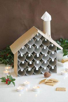 Pěkné a praktické využití rolek od toaletního papíru - adventní kalendář!