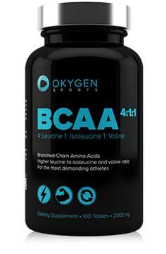 BCAA 4:1:1 de Okygen Sports combina los tres aminoácidos de cadena ramificada (leucina, isoleucina y valina), en las proporciones ideales para maximizar la hipertrofia muscular. BCAA 4:1:1 es un suplemento recomendado para atletas que quieren tener más energía durante los entrenamientos, aumentar su masa muscular y acelerar la recuperación después del entrenamiento. http://www.okygen.es/producto/bcaa-411-aumenta-musculos-100-tabs/