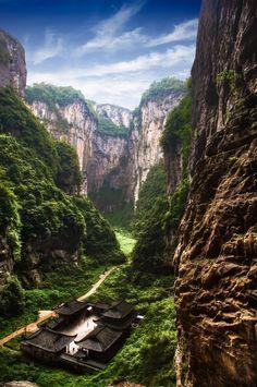 Three Natural Bridges.  Wulong Karst Geology National Park.  Chongqing 18
