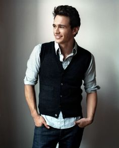 James Franco exhibiting the fact that vests make guys infinitely cooler :)