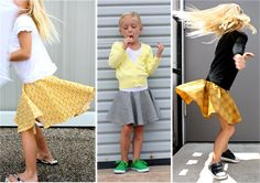 TUTORIAL: the Circle Skirt | MADE.  Note:  3 tiers and attach a big bow