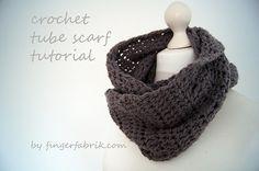 crochet tube scarf tutorial...so simple, so cozy! DIY