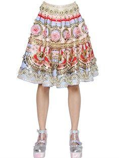 Embellished Silk Skirt   | ≼❃≽ @kimludcom