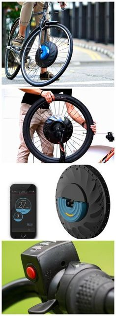 Simply replace your front bike wheel with the UrbanX Electric E-Bike Wheel to instantly receive a 30 mile range with a 20 mph top speed. Velo Design, Bicycle Design, Electric Bicycle, Electric Cars, E Bike Antrieb, Bullitt Bike, Velo Cargo, Kart, Quad