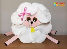 paper magic craft for kıds « Preschool and Homeschool Color Paper Crafts, Paper Crafts For Kids, Easter Crafts, Paper Art, Arts And Crafts, Diy Paso A Paso, Magic Crafts, Sheep Crafts, Paper Magic
