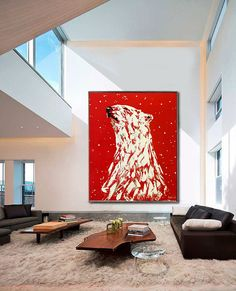 * To see details of the painting, please click ZOOM to enlarge the images. Polar Bear Beautiful Large Animal Painting on Canvas HAND MADE Painting Thick Layers Extremely Power Palette Knife Animal by Kathleen Artist TITLE : « POLAR BEAR Bear Paintings, Original Paintings, Hanging Paintings, How To Make Paint, Canadian Art, Bear Art, Large Animals, Wall Art, Abstract