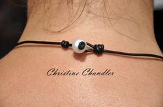 Pearl and Leather 3 Pearl Lariat Freshwater by ChristineChandler