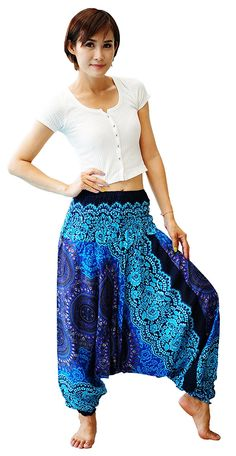 Firstharem Floral Women Yoga Jumpsuit Harem Pants >>> This is an Amazon Affiliate link. More info could be found at the image url.