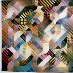 Rhythm-Color Improvisation 3 Quilt, 1987 by Michael James