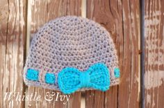 Baby Crochet Faux Bow Hat Pattern by Whistle and Ivy