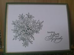 Awesomely Artistic; Love &Sympathy; pearls. Stampin Up.