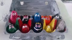 barbapapa diy colorsorting play rocks. www.andersmama.com