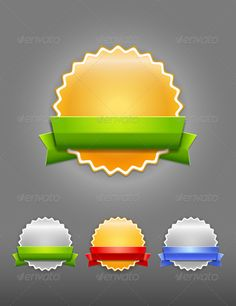 Vector badges - Web Elements Vectors