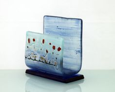 fused glass iPhone stand smartphone stand docking by virtulyglass, $30.00 Use as a napkin holder