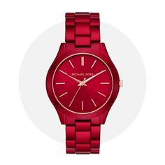 Michael Kors Slim Runway Red Mk3895 Michael Kors Watch, Runway, Slim, Watches, Red, Accessories, Fashion, Cat Walk, Moda