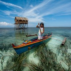 Standing on stilts above the lapping waves, the Bajau built an off-shore community that relies solely on the ocean to survive