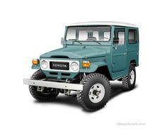 Toyota Landcruiser Heritage illustrations on Behance