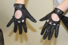 Black Biker Gloves Soft Leather Large by cherylbohlin on Etsy, $22.00
