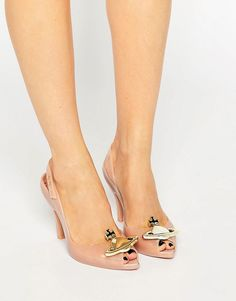 Image 1 of Vivienne Westwood for Melissa Lady Dragon Nude Orb Sling Heeled Sandals