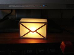 EMAIL notifier lights up when you get email. Plugs into USB port. SO COOL!!