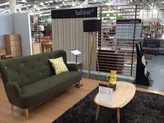 Habitat room set at Homebase