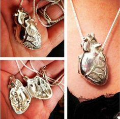 realistic heart necklace