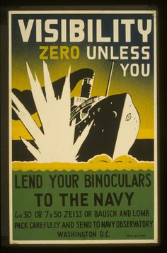"""""""Visibility Zero"""" WPA poster. Hundreds more available for download from the Library of Congress."""