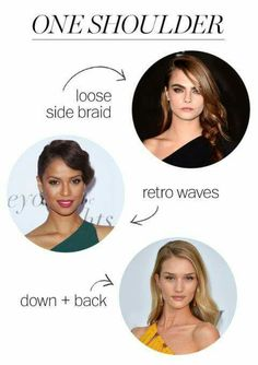 Hairstyles for one shouldered top