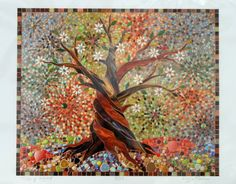 Tree of Light Giclee Print Mosaic Tree of Light Tree of Life