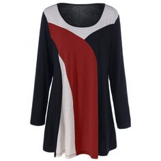 SHARE & Get it FREE | Color Block Longline Plus Size T-ShirtFor Fashion Lovers only:80,000+ Items·FREE SHIPPING Join Dresslily: Get YOUR $50 NOW!