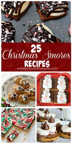 Enjoy your favorite campfire treat during the holidays with these Christmas S'mores recipes. A BIG list of fun, festive treats for your holiday season!