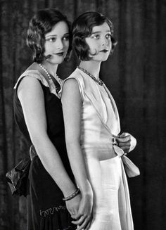 sisters Loretta Young and Sally Blane c. 1928