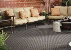 Gentil Outdoor Carpeting In STYLE: Pattern Play | COLOR: Tapestry Blue   By Shaw  Floors