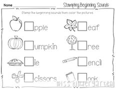 Print and Go! Printables for Fall