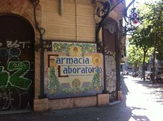 This is what the pharmacies look like here in #Barcelona!