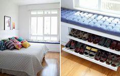 Quarto, lugar para sapatos