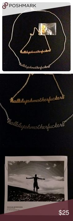 "Hallelujah MotherF@#kers necklaces 20"" adjustable chain. Gold plated or silver. NWT. From my store. Jaeci Jewelry Necklaces"